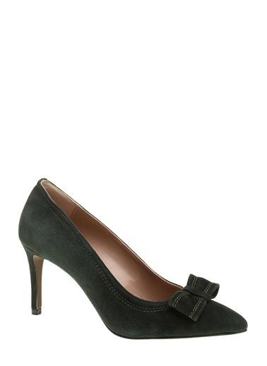 Divarese İnce Topuklu Deri Ayakkabı Yeşil